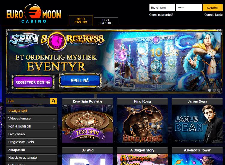 Euromoon Casinoer på Nett